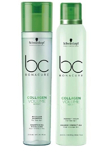Bonacure Collagen Doğal Hacim Saç Bakım Şampuanı 250ml +  Köpük 200ml   2Lİ SET Renksiz